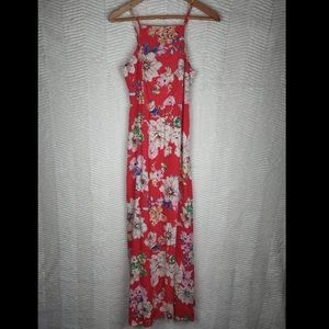 NWT Band Of Gypsies Red Floral Maxi Dress Sz S